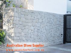 Australian Sandstone Colonial Walling made up of natural sandstone cladding. Available in 4 colors. Sandstone Corner &Sandstone Capping are available too. Stone Cladding Exterior, Sandstone Cladding, Natural Stone Cladding, Natural Stone Wall, Sandstone Fireplace, Sandstone Wall, Sandstone Paving, Exterior Wall Design, Exterior Paint Colors