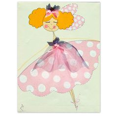 Colorful Princess Fairies With Sparkling Wings and polka by gitush, $89.00