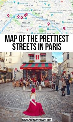These are the top charming streets in Paris you must see! These secret Paris streets are off-the-beaten-path and we include a map to help you find them! Paris Tips, Paris Travel Guide, Europe Travel Tips, European Travel, Places To Travel, Sainte Chapelle Paris, Saint Chapelle, Nice, Viajes