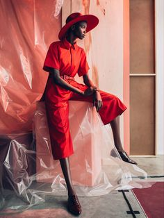 This is How to Wear Red: Nykhor Paul Looks Red Hot in her Feature for Marie Claire South Africa