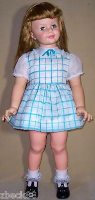 VINTAGE-1960s-PATTI-PLAYPAL-DOLL-IDEAL-G-35-LONG-BLONDE-HAIR
