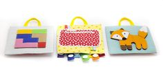 Developing travel toy Quiet book Toddler busy board Fabric