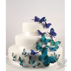Decorative Butterflies - Beautiful Butterfly Ornament Set (4 Colors Available)
