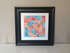 Street map print of Roanoke Virginia This map features the streets