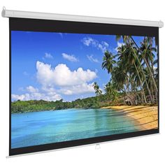 """119"""" Manual Screen 84""""X84"""" Pull Down Projection Home Movie Theater Projector"""