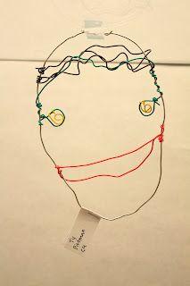 wire self-portraits