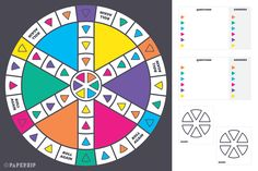 Our version of the classic game, Trivial Pursuit, has been simplified for the classroom. Each colour represents a different category, which you can assign before the start of each game. Board Game Template, Printable Board Games, Speech Therapy Activities, Math Activities, Trivial Pursuit Questions, Make Your Own Game, Play Therapy Techniques, Tv Show Games, Classic Video Games