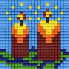 Twee kaarsen | Pixel Party