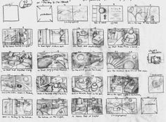 Storyboard by Beth Krommes for the book The House In The Night.
