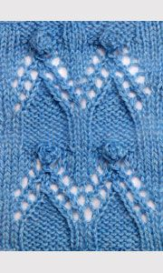 Lace pattern with bobbles for knitting