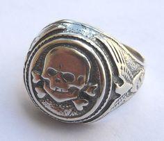 Silver ww2 Original German Totenkopf Division Skull & by TOPOL925, $69.99