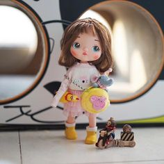 Kawaii Doll, Ukulele, Bjd, Annie, Doll Clothes, Angels, Dolls, Christmas Ornaments, Holiday Decor