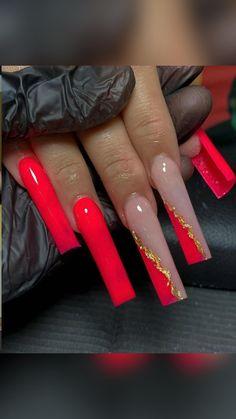 Acrylic Nails Coffin Pink, Long Square Acrylic Nails, Drip Nails, Glow Nails, Dope Nail Designs, Cute Acrylic Nail Designs, Bling Nails, Swag Nails, Acylic Nails