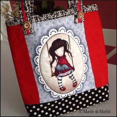 El Mundo de MariLoli: Un nuevo bolso!!! Soporte para mi IPad!! Quilted Bag, Change Purse, Cute Dolls, Diy And Crafts, Ipad, Reusable Tote Bags, Cartoon, Quilts, Purses