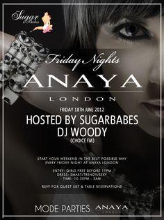 Sugarbabes & DJ Woody at Anaya.