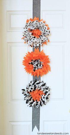 Halloween Easy Decor for your Front Door or any door!  - Halloween Decoration Ideas Super Easy and Fun DIY Tutorial