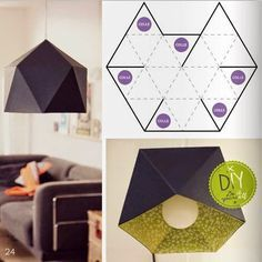 Origami Geometric Diy Lamp Shades 52 Ideas For 2019 Origami Diy, Origami Lampshade, Paper Lampshade, Origami Paper, Lampshades, Origami Hand, Diy Luminaire, Diy Lampe, Diy Luz