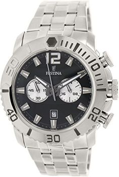 Festina Men's Quartz Watch with Black Dial Chronograph Display and Silver Stainless Steel Bracelet F16613/3 https://www.carrywatches.com/product/festina-mens-quartz-watch-with-black-dial-chronograph-display-and-silver-stainless-steel-bracelet-f166133/ Festina Men's Quartz Watch with Black Dial Chronograph Display and Silver Stainless Steel Bracelet F16613/3  #braceletwatch #Chronographwatch...