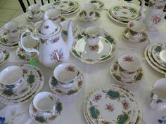 Huge Royal Albert England Berkeley Coffee Tea Set - 49 pieces in Pottery & Glass, Pottery & China, China & Dinnerware, Royal Albert | eBay