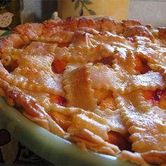 "Peach Pie the Old Fashioned Two Crust Way I ""This was my first peach pie. It was very easy, and very tasty!"""