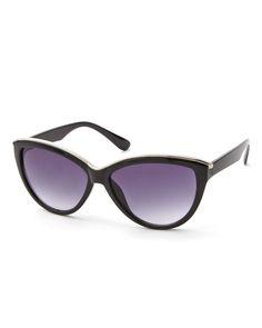 Silver Top Cat Eye Sunglasses   Addition Elle