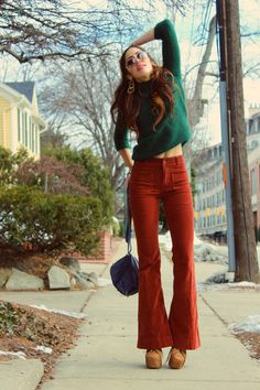 Bell bottoms and a sweater - The perfect fall outfit