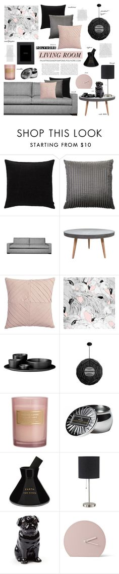 """Living Room / Replica Tom Dixon Punch Ball Pendant"" by palmtreesandpompoms on Polyvore featuring interior, interiors, interior design, home, home decor, interior decorating, JAG Zoeppritz, Missoni Home, Thrive and CB2"