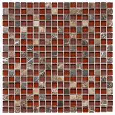 Kitchen backsplash @Overstock - These translucent glass tile sheets are perfect for your kitchen, bath or backsplash  The wall tile sheets showcases shades of tan, beige, cream, black, white, green, red and moreThese mosaic tile sheets feature mini stones   http://www.overstock.com/Home-Garden/SomerTile-12x12-in-Reflections-Mini-5-8-in-Bordeaux-Glass-Stone-Mosaic-Tile-Pack-of-10/4511713/product.html?CID=214117 $219.99