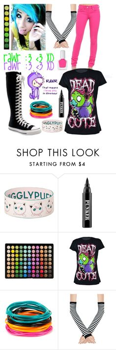 """""""Scene Queen 2008 (#1) contest"""" by retalleyation ❤ liked on Polyvore featuring Ardency Inn, BHCosmetics, Converse, Full Tilt and tenoverten"""