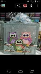 Painting on glass blocks ideas Painted Glass Blocks, Decorative Glass Blocks, Lighted Glass Blocks, Christmas Glass Blocks, Christmas Wood, Christmas Signs, Block Painting, Painting On Glass, Glass Art