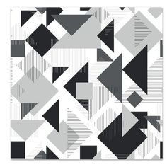 Americanflat 'Scattered Angles' by Kevin Brackley Graphic Art in Black Size: 1