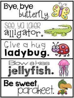 GOODBYE RHYMES - TeachersPayTeachers.com