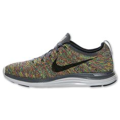 Sweet colorway. Nike Flyknit Lunar1+ Men's Running Shoes | Run.com | GRY-BLK-RYL