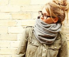 cute.. i love the messy bun and glasses look... i do need to update my prescription =)