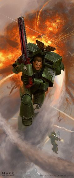 "haaaaaaaaave-you-met-ted: "" Warhammer 40K Dark Angel Assault Marine by JakeMurray """