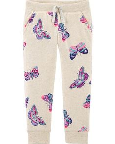Toddler Girl Logo Fleece Butterfly Pants from OshKosh B'gosh. Shop clothing & accessories from a trusted name in kids, toddlers, and baby clothes. Baby Girl Leggings, Toddler Leggings, Baby Girl Pants, Baby Girl Shoes, Girls Pants, Toddler Girl Style, Toddler Girl Outfits, Kids Outfits, Toddler Girls