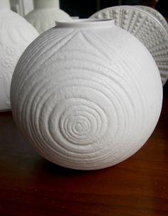 Rosenthal Mid Century White Porcelain Matte Vase