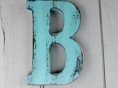 rustic wood letter b 8 inch distressed shabby chic nursery or wedding decor chalk paint choice of colors Shabby Chic Office, Shabby Chic Porch, Shabby Chic Mirror, Shabby Chic Pillows, Shabby Chic Curtains, Shabby Chic Living Room, Shabby Chic Interiors, Rustic Shabby Chic, Shabby Chic Bedrooms