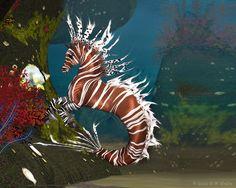 Lionfish Hippocampus by Daio.deviantart.com on @DeviantArt    LOVE