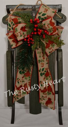 Vintage Style Decorated Sled