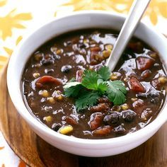 Spicy Black Bean Soup... Weight Watchers Recipe