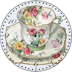 """moss rose"" by talented artist 'alexandra nea' ~ absolutely beautiful 'tea art' and 'food art' by alexandra at her website ❀ ~ ◊ photo via alexandra's website 'alexandra nea Vintage China, Vintage Tea, Diy Image, Tee Kunst, Tea Cup Art, Teapots And Cups, Teacups, China Tea Cups, My Tea"