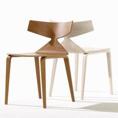 New Arper chairs featuring oak vaneer designed by Barcelona studio Lievore Altherr Molina