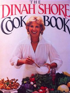Dinah Shore Signed Copy 1983 Vintage Cook Book TV by ArtPhotoGirl, $25.00
