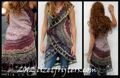 Felt Art Vest - Upcycled doilies and lace nuno felt