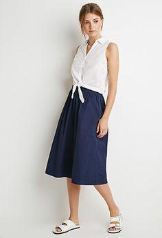 A-Line Midi Skirt   Forever 21 Contemporary - 2000130669