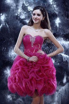 Pretty Sweetheart Mini/Short-Length Flowers Yulia's Cocktail/Prom Dress