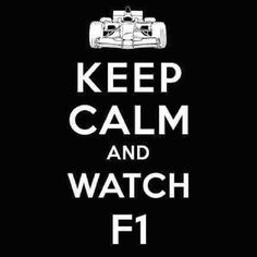 But who wants to keep calm while watching F1? It's too exciting! :)