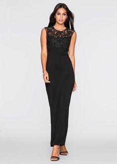 Maxi-jurk zwart nu in de onlineshop van bonprix.nl vanaf ? 38.99 bestellen. Wondermooie, elegante maxi-jurk met gehaakte kant bij de hals, die van je ...