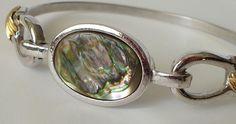 Vintage Avon 1970's Abalone Bangle Bracelet by BusyTurtleCreations, $8.00